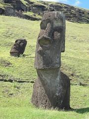 Moai, Rano Raraku quarry, Easter Island, Chile (Uncommon Fritillary) Tags: chile moai easterisland ranoraraku