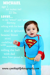 It's a bird... it's a plane.. it's Super Baby! (Cynthia Jill Photography) Tags: boy portrait baby canon one toddler nj 1yearold 1stbirthday cakesmash blueseamless