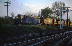 N&W train passing Lafayette Junction (Indiana) in May 1972. (rrradioman) Tags: nyc nw lafayette indiana junction 1972 in nkp monon newyorkcentral 2497 lafayettejunction