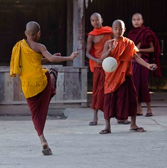 1301_inla_050-2 (Paul Kerton Photography) Tags: travel lake tourism sport fun evening football travels shot burma monk tourist traveller adventure monks shooting myanmar recreation monestery inla youngmonks