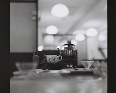 Tea time (Ifitis) Tags: light blackandwhite white black 120 film vintage mediumformat asia southeastasia tea malaysia medium pentacon kl ilford p6 pentaconsix czj
