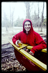 Jono (DHaug) Tags: camping trees portrait fish ontario canada nature water face canon handy easter outdoors eos march hoodie spring fishing faces bokeh canoe nephew getty craftsman watercraft lanark lanarkcounty 35l
