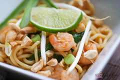 Shrimp Pad Thai (Food n' Focus) Tags: food cooking asian eating shrimp pasta peanut lime beansprout