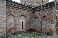 Exterior brickwork, the Mausoleum of Galla Placidia
