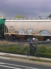 ROLLIN' (quick, take a pic!) Tags: berg train graffiti 45 cents 707 genitals rues gmc 87 f2ukf