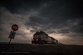 Norfolk Southern Goes Into the Storm Near Delaware, Ohio