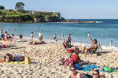 140413_0057 (amblerpix) Tags: blue beach clouds swimming fun surf day sunny australia bluesky newsouthwales swimmers tasmansea crowds sunbathing coogee lifeguards surfrescue autumnday