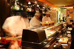 Japanese sushi counter