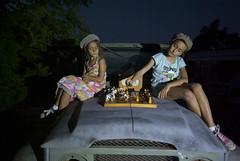 IMGP5121 (Boglari) Tags: sunset portrait music children outdoors tricycle chess nighttime nsw toyota paintingwithlight aus landcruiser railwaybridge phillipa pwl fj40 playingchess oldrailwaybridge oldtricycle brocklesby roksy guitarsband upratediso childrenplayingchess zhofi