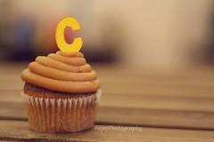 C (Fajer Alajmi) Tags: wood caramel cupcake letter