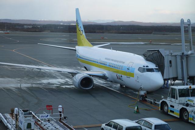 AIRDOの機体。|新千歳空港
