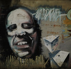 Dicing with the Future (Kispio) Tags: sardegna italy streetart dice face wall graffiti europa italia sardinia spray sguardo numbers destiny dadi numeri muri facce ghigno quartusantelena parconazionaledabruzzolazioemolise sardegnagraffiti artorstreet kispio muripittati dicingwiththefuture