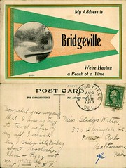 My Address is Bridgeville We're Having a Peach of a Time (Delaware Public Archives) Tags: water rural canoe pennant