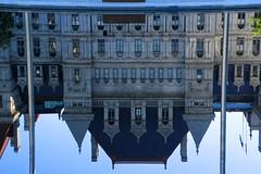 Reflection of the New York State Capitol Building_1440 (Prof Ryall) Tags: reflection newyorkstatecapitolbuilding empirestateplaza albanyny reflectingpool
