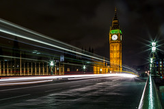 London Blur (Eric.Burniche) Tags: london longexposure londonengland bigben england night nightshots bridge westminsterbridge motionblur