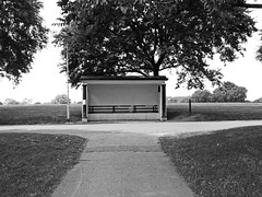 park shelter (chrisinplymouth) Tags: park shelter hut plymouth devon england uk cw69x grayscale plymgrp urban