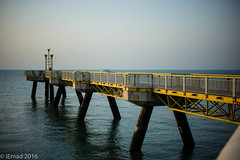 Fishermen's lounge...the pier... (EHA73) Tags: summiluxm11450asph leica leicamp typ240 pier salmiya kuwait kuwaitscientificcenter sea seaside fisherman fishing