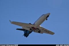 C-GHJU (northwest85) Tags: helijet learjet 31a cghju landing runway 26l vancouver international airport yvr cyvr larry berg flight path park russ baker highwa