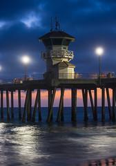Tower Zero At Night (FilmAndPixels) Tags: ifttt instagram hb huntingtonbeach pier lifeguardtower night nightshot longexposure nikon nikond7200