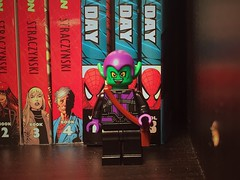Modern Green Goblin. Thoughts? (gmanwease) Tags: lego green goblin norman osborn oscorp purple marvel knights comics minifigure harry peter parker spiderman figure mini hawkeye torso civil war captain america