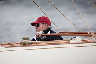 S.M. El Rey Juan Carlos I navegando durante la pasada edición. © María Muiña