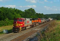 "Eastbound Manifest in Shawnee, KS (""Righteous"" Grant G.) Tags: bnsf atsf santa fe canadian national kansas city southern lines norfolk ns train trains railroad railway"