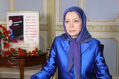 Maryam Rajavi #Justice1st conference in Paris #1988Massacre in #Iran exhibition. (iranarabspring) Tags: justice1st 1988massacre iran paris