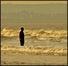 Watching the tide roll in! (peterdouglas1) Tags: crosby anotherplace antonygormley seaside waves