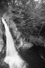 Glenn Ellis (SnapSnare) Tags: new hampshire glenn ellis falls black white canon waterfall franconia notch