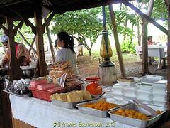 Thai Food being served at Wat Bang Hua Suea, Moo 8, Phra Pradaeng, Samut Prakan Province, Thailand. (samurai2565) Tags: watbanghuasuea moo8 banbanghuasuea tambonbanghuasuea amphoephrapradaeng samutprakan samutprakanprovince thailand templesinsamutprakan