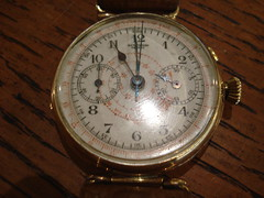 "BERTHOUD CHRONOGRAPH 18K WRISTWATCH, 1920'S • <a style=""font-size:0.8em;"" href=""http://www.flickr.com/photos/51721355@N02/29193716271/"" target=""_blank"">View on Flickr</a>"