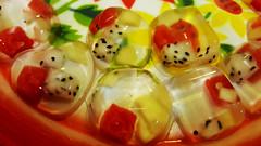 Fruit treats (Roving I) Tags: fruit jackfruit jelly shapes watermelon pineapple danang dining events cabanon cafes vietnam