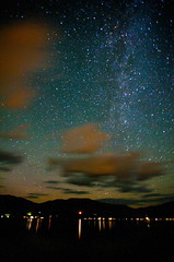 Stars & Clouds (stevenbulman44) Tags: 1740f40l canon shuswap lake stars cloud night water light landscape
