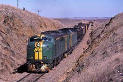 V700_3_686 (Bingley Hall) Tags: transport train transportation rail railway railroad trainspotting locomotive engine gladstone yanga australia southaustralia an anr australiannational commonwealthrailways 567c emd clydeengineering gm44 railpage:class=41 railpage:loco=gm44 rpaugmclass2 rpaugmclass2gm44 railpage:livery=10 freight bulldog streamliner kodachrome