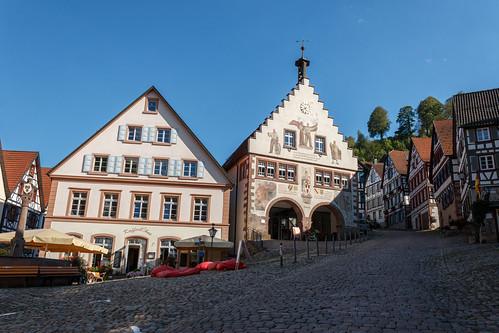 La place du marché à Schiltach