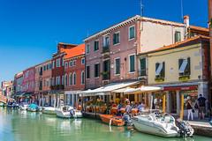 Small water street in Murano, Venice (Frank Lammel) Tags: 2016 cityscape colorful italien italy lidodijesolo murano ships street summer urlaub venedig venice water