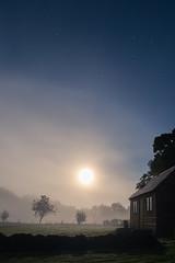 Full moon (KathrinPreiss) Tags: full moon england devon night landscape tiny house stars fog dust