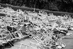 Chairs (m.o.n.o.c.h.r.o.m.e.) Tags: princesstreet princesstreetgardens bandstand rossbandstand scotland seats mess chairs bw monochrome