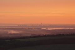 Sunset over Portsmouth (zombikombi1959) Tags: portsmouth trundlehillfort trundlehill southdowns goodwood southcoast england sunset