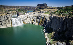 shoshone falls (almostsummersky) Tags: rock shoshonefalls twinfalls overlook canyon water idaho summer waterfall river shoshonefallspark snakeriver riverbed travel mist cliff gorge kimberly unitedstates us