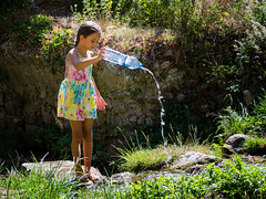 Young Girl playing with Water. (kitchou1 Thanx 4 UR Visits Coms+Faves.) Tags: countryside enfant et europe exterior fleurs flowers france kids landscape nature people season south summer world saison