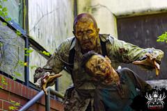 Coming for you (SlayervilleProd) Tags: zombie makeup halloween baldwinasylum slayerville slayervilleproductions undead hauntedhouse baldwinasylum2016videoshoot