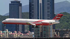 Far Eastern Air Transport McDonnell Douglas MD-82 B-28007 (Aviation and Travel photography) Tags: taipei taiwan summer aircraft holiday aviation air jet jetliner airplane airtoair far eastern worldwide jetphotos airplanes sungshan white spotter spotting