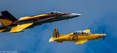CT-156 Harvard II and CF-18 Hornet (soupie1441) Tags: london ontario canada nikon d7200 nikkor 20005000 mm ct156 harvard cf18 hornet bcatp air show jet fighter trainer plane airforce