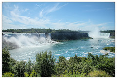 Panorama of the falls, Niagara Falls, Ontario, Canada (ta92310) Tags: travel summer panorama ontario canada america niagarafalls north niagara falls hdr horseshoefalls americanfalls 2011 photomatix canadausborder