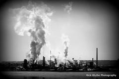Hamilton (Rick Blythe) Tags: winter bw lake canada cold industry canon hamilton lakeontario hfg s100 rickblythephotography