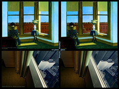 Rooms in Brooklyn & Shinjuku (Willem van den Hoed) Tags: reflection brooklyn shinjuku experiment vase curtains windowsill vensterbank edwardhopper roominbrooklyn