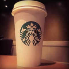 ahh Starbucks (LaurenWood_x) Tags: from white hot cute green cool chocolate starbucks caffee instagram