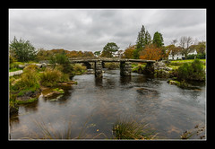 Clapper Bridge at Postbridge (Travels with a dog and a Camera :)) Tags: uk bridge trees houses england southwest west art digital photoshop river dc october pentax unitedkingdom south sigma devon 1020mm dartmoor 43 2010 lightroom clapper kx pentaxkx postbridge clapperbridge cs6 1456 justpentax sigma1020mm1456dc pentaxart photoshopcs6 lightroom43
