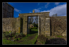 Gate to the garden, Newark Park (NT) (Travels with a dog and a Camera :)) Tags: park uk england house art wall digital photoshop garden dc gate pentax unitedkingdom nt sigma cotswolds gloucestershire national trust newark 1020mm nationaltrust febuary 43 k5 lightroom cs6 2013 1456 wottonunderedge ozleworth newarkpark justpentax sigma1020mm1456dc pentaxart pentaxk5 photoshopcs6 lightroom43